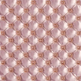 ピンクのソファの房状のテクスチャの3 dレンダリング画像。