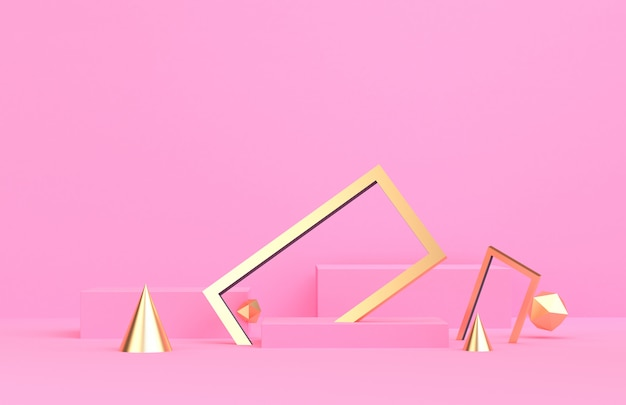 幾何学的形態最小限の抽象的な背景3 dレンダリングのあるシーン