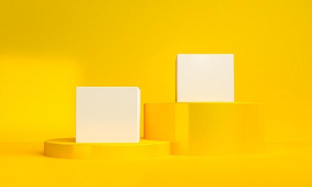 ミニマリストの抽象的な背景、原始的な幾何学的図形、パステルカラー、3 dのレンダリング。
