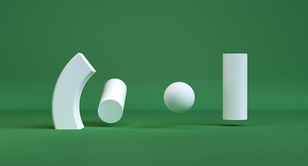幾何学的形状のミニマリストの抽象的な背景、3 dのレンダリング。