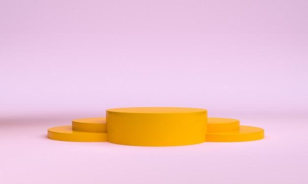 ミニマリストの幾何学的形状のシーンミニマル、3 dレンダリング。