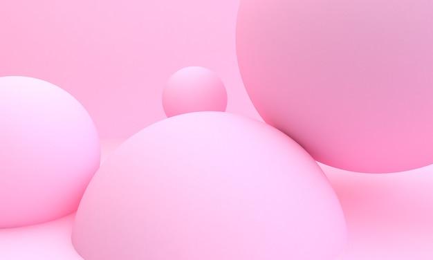 ピンクの球3 dの抽象的なスタイル