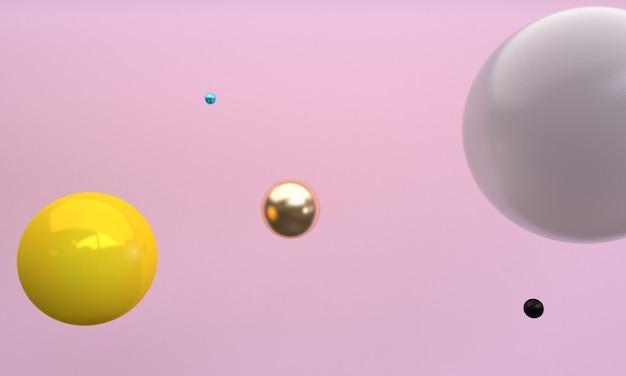球3 dの抽象的なスタイル