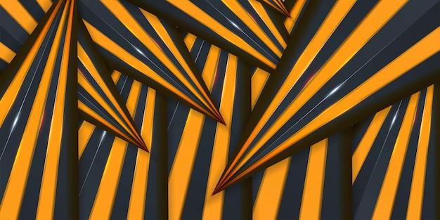 抽象的なクリエイティブトレンディな動的3 d黄色の背景