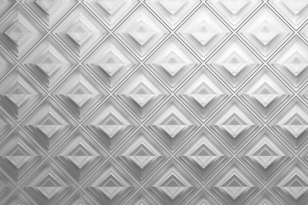 ひし形の白い3 dパターン
