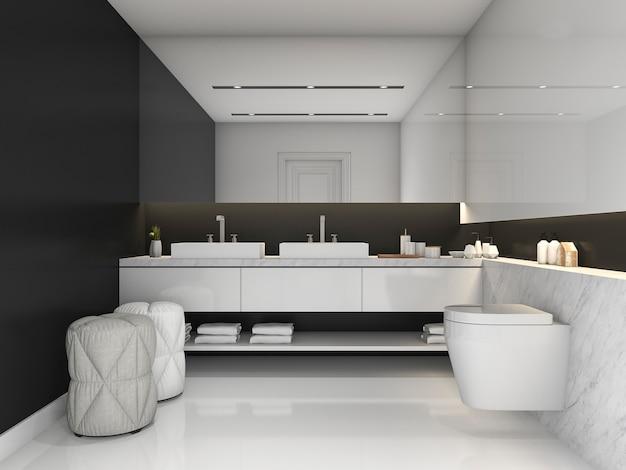 モダンなスタイルのバスルームの3 dレンダリング