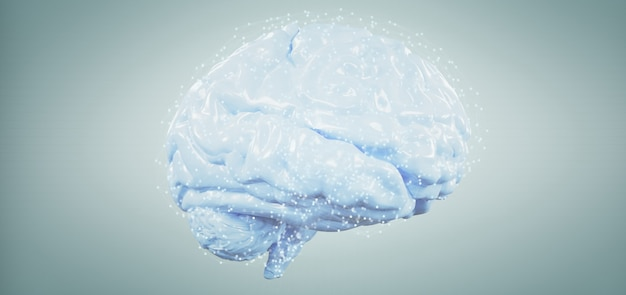 背景に分離された3 dレンダリング人工脳