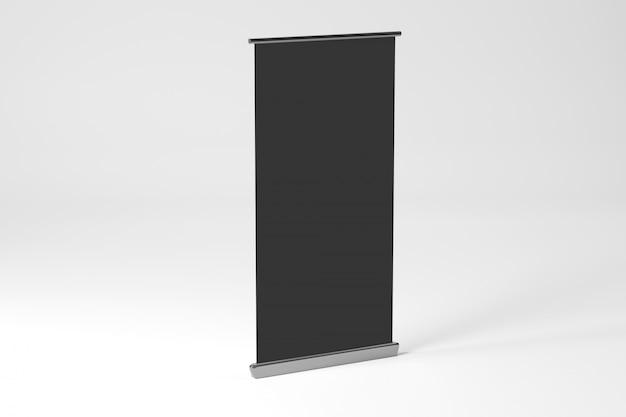 ロールアップ広告バナー -  3 dレンダリング