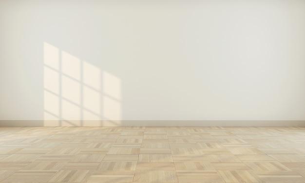 ベージュの壁3 dレンダリングと現実的なモダンな中立的な空の部屋のインテリアスペース