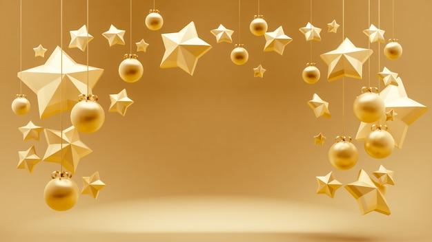 星飾りの3 dレンダリング
