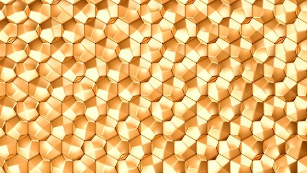 金の金属の背景テクスチャ。 3 dイラスト