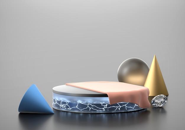 製品の現在の背景、3 dレンダリングの抽象的な最小限の段階。
