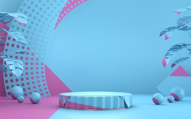 製品の現在の背景、3 dレンダリングの抽象的な最小限のステージ。