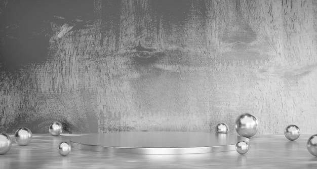 抽象的な灰色の製品段階の商業プレゼント背景3 dレンダリング。
