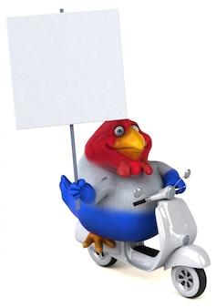 楽しい鶏-3 dイラストレーション