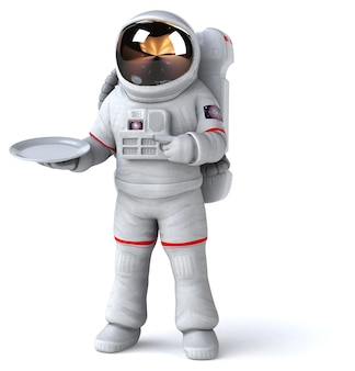 楽しい宇宙飛行士-3 dイラストレーション