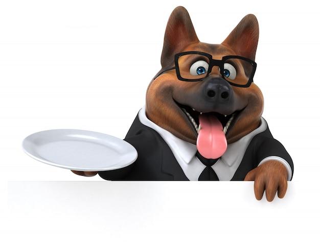 ジャーマン・シェパード犬の3 dイラストレーション
