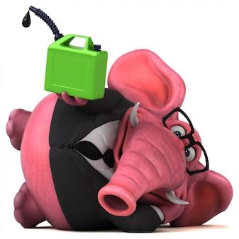 ピンクの象の3 dイラストレーション