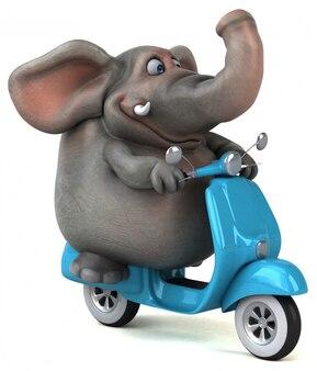 楽しい象-3 dイラストレーション
