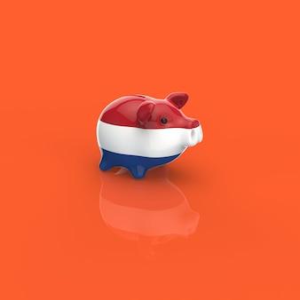 貯金箱-3 dイラストレーション