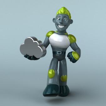 緑のロボット3 dイラストレーション