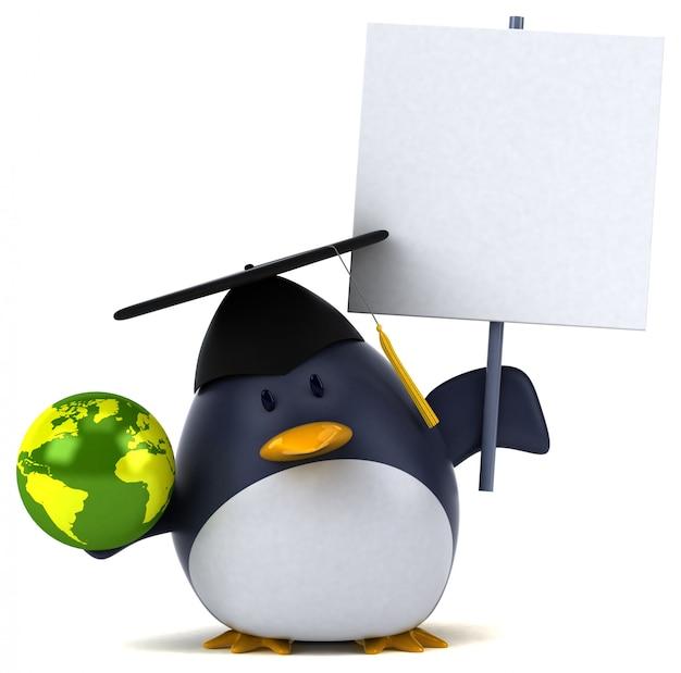 楽しいペンギン3 dイラストレーション