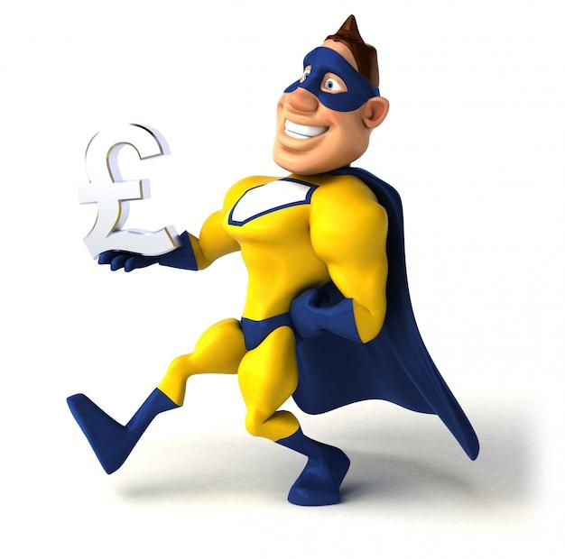 楽しいスーパーヒーローの3 dイラストレーション
