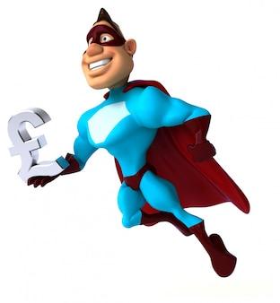 楽しいスーパーヒーロー-3 dイラストレーション