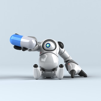 大きなロボット-3 dイラストレーション