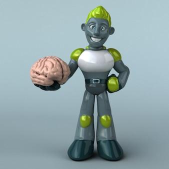 緑のロボット-3 dイラストレーション