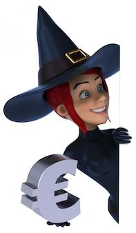 魔女のキャラクター-3 dイラストレーション