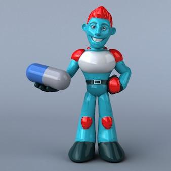 赤いロボット-3 dイラストレーション