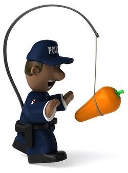 楽しい警官-3 dイラストレーション