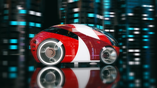 車のデザイン-3 dイラストレーション