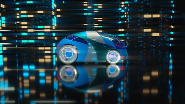 車のコンセプト-3 dイラストレーション