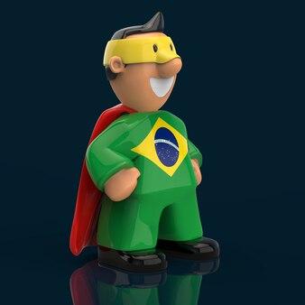 スーパーヒーローのコンセプト-3 dイラストレーション