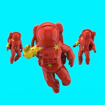 宇宙飛行士のコンセプト-3 dイラストレーション