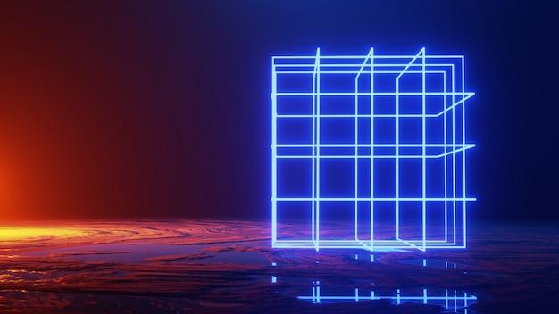 抽象的な空間旅行、宇宙の概念、3 dのレンダリング