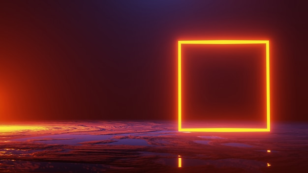 抽象的な空間、宇宙の概念、3 dのレンダリング