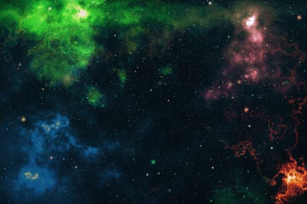 高精細スターフィールドの背景。星空の宇宙背景テクスチャ。カラフルな星空の夜空宇宙背景3 dイラスト