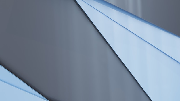 3 dのレンダリングで多角形のグレーブルー形状の背景