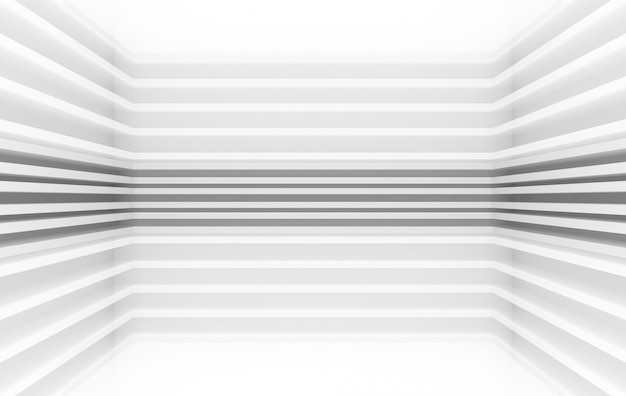 3 dレンダリング、モダンな平行灰色パネルパターンデザインコーナー壁背景、