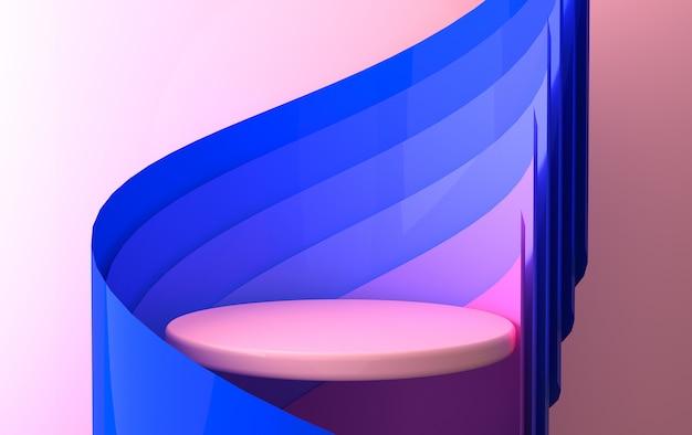 抽象的な幾何学的形状グループセット、最小限の抽象的な背景、3 dレンダリング、幾何学的形状のシーン