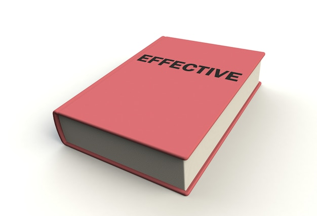 白い背景、3 dレンダリングに効果的な本