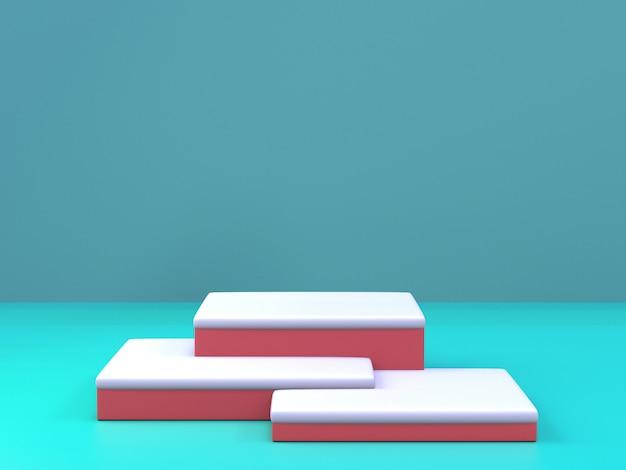 台座表彰台、製品のプレゼンテーションのための抽象的な最小限の表彰台の3 dレンダリング