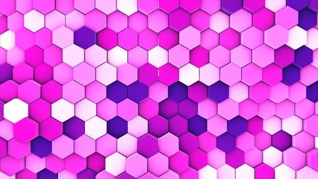 3 dレンダリング抽象的なカラフルな多くの技術的な幾何学的な六角形