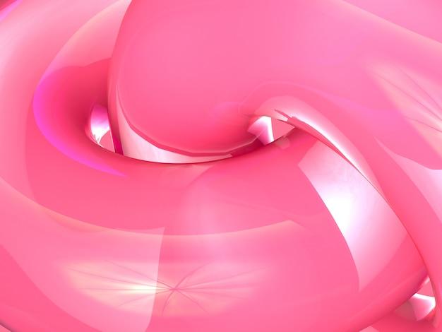 クローズアップショットの抽象的な背景ピンクの光沢のある3 dレンダリング