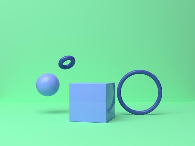 透明なラップ3 dレンダリングの抽象的な背景の中の球の浮揚