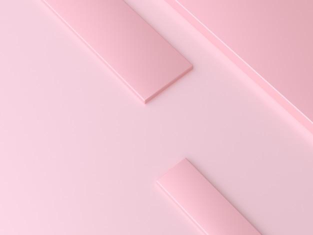 3 dレンダリング抽象的な最小オーバーラップスクエアピンク
