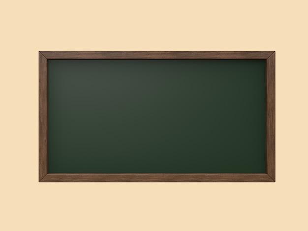 木枠ブラックボード、グリーンボード3 dレンダリング